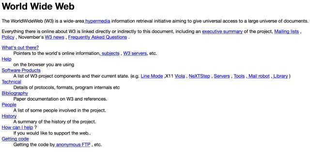 First Web Page (CERN.ch)