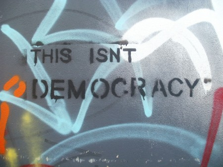 """Democracy"" flickr photo by Feral78 https://flickr.com/photos/emmettgrrrl/6904685720 shared under a Creative Commons (BY) license"