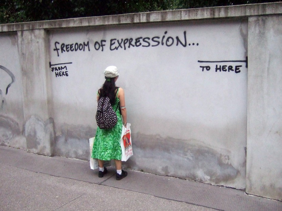 Freedom of expression, Flickr photo by Harald Groven, CC-Licensed BY-SA