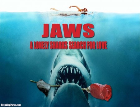 Jaws in Love poster. From  www.freakingnews.com